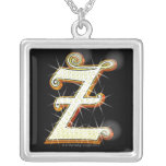 Bling alphabet Z Jewelry