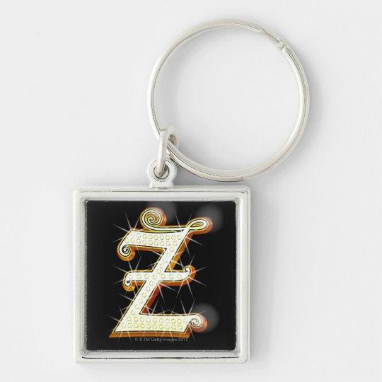Bling alphabet Z Keychain