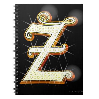 Bling alphabet Z Notebook