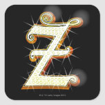 Bling alphabet Z Square Stickers