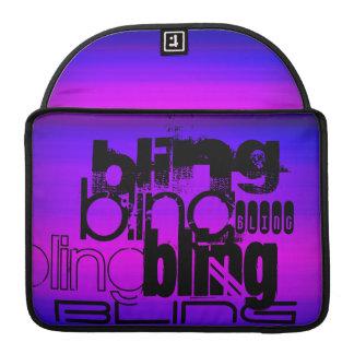 Bling; Azul violeta y magenta vibrantes Fundas Para Macbooks