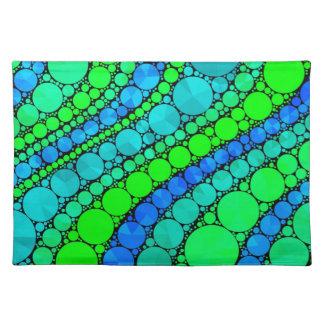 Bling azulverde fluorescente retro manteles
