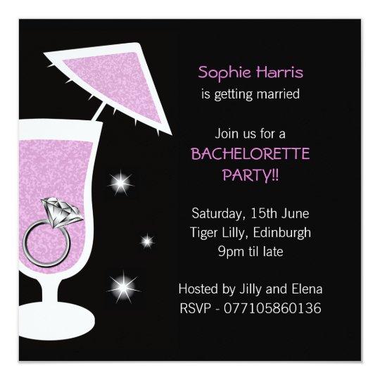 Bling Bachelorette Party Invitation