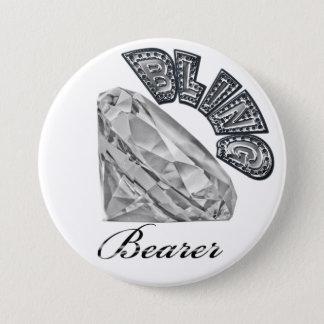 BLING Bearer Wedding Button