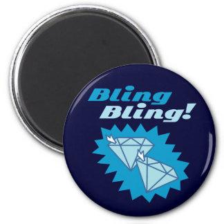 Bling Bling 2 Inch Round Magnet
