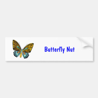 Bling Bling Butterfly Car Bumper Sticker