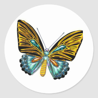 Bling Bling Butterfly Classic Round Sticker