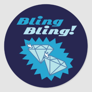 Bling Bling Classic Round Sticker