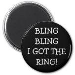 Bling bling conseguí el anillo imán de frigorifico