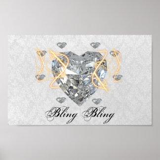 Bling Bling Diamond Poster
