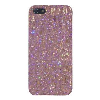 Bling bling el caso cristalino rosado del iPhone 4 iPhone 5 Cárcasas