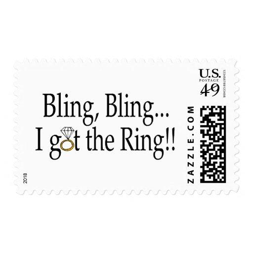 Bling Bling, I Got The Ring Stamp
