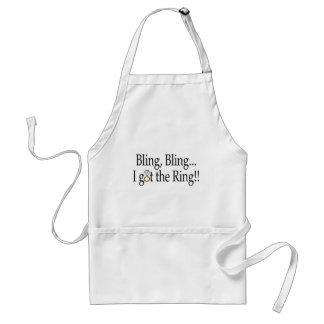 Bling Bling I Got The Ring Wedding Engagement Adult Apron