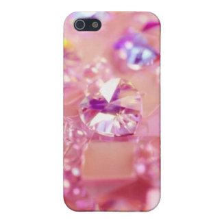 Bling bling iPhone cristalino rosado púrpura 4 cas iPhone 5 Protector
