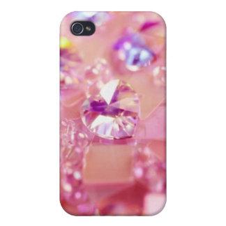 Bling bling iPhone cristalino rosado púrpura 4 cas iPhone 4 Cobertura