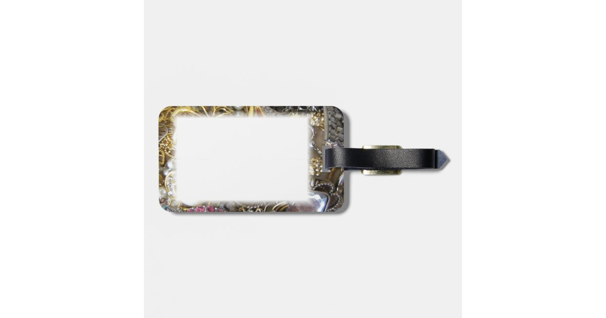 bling bling jewelry collection bag tag zazzle