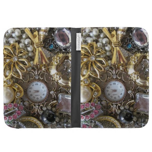 bling bling jewelry collection case for kindle