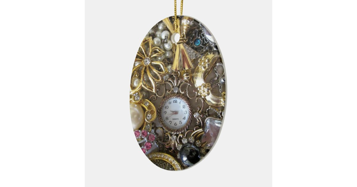 bling bling jewelry collection ceramic ornament zazzle