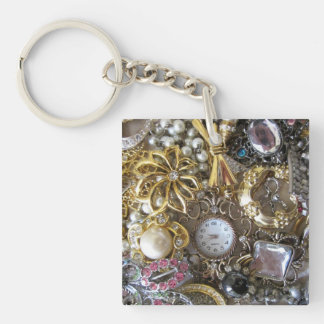 bling bling jewelry collection Double-Sided square acrylic keychain