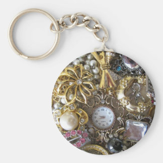 bling bling jewelry collection basic round button keychain