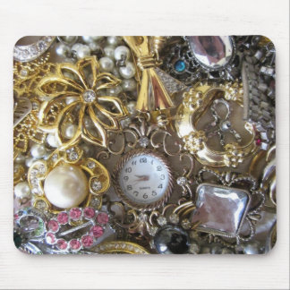bling bling jewelry collection mouse pad