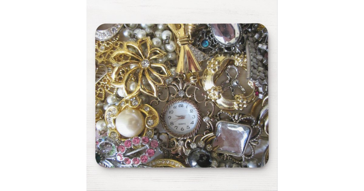 bling bling jewelry collection mouse pad zazzle