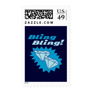 Bling Bling Postage Stamps