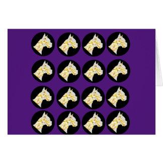 BLING BOXER DOG! CARD