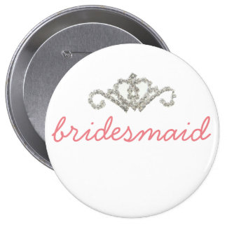 Bling Bridesmaid Pinback Button