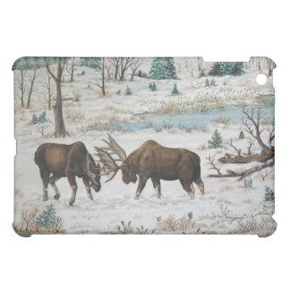 Bling Bull Moose Wildlife Art Scene iPad Mini Case