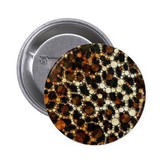 Bling Cheetah Print 2 Inch Round Button