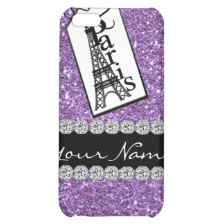 Bling Chic PURPLE Paris 4s Diamonds &  Case For iPhone 5C