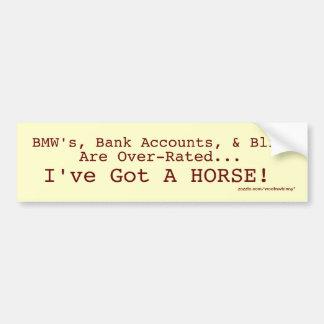 Bling contra el pegatina del caballo pegatina de parachoque