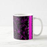 Bling de mármol negro y púrpura tazas de café