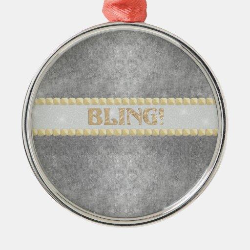 ¡Bling de moda! Diseño Ornamento De Navidad
