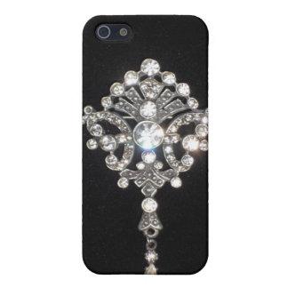 Bling Diamond Jewel on Black Velvet iPhone SE/5/5s Case