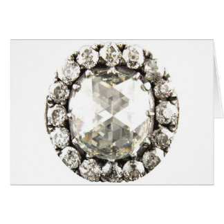 Bling Diamond Rhinestone Vintage Costume Jewelry Greeting Cards