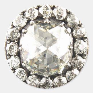 Bling Diamond Rhinestone Vintage Costume Jewelry Classic Round Sticker