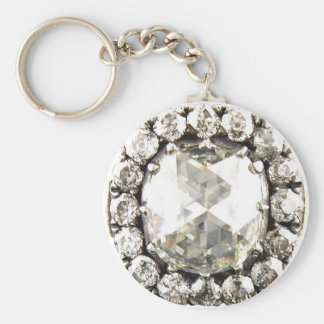Bling Diamond Rhinestone Vintage Costume Jewelry Keychain
