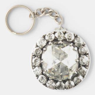 Bling Diamond Rhinestone Vintage Costume Jewelry Keychain