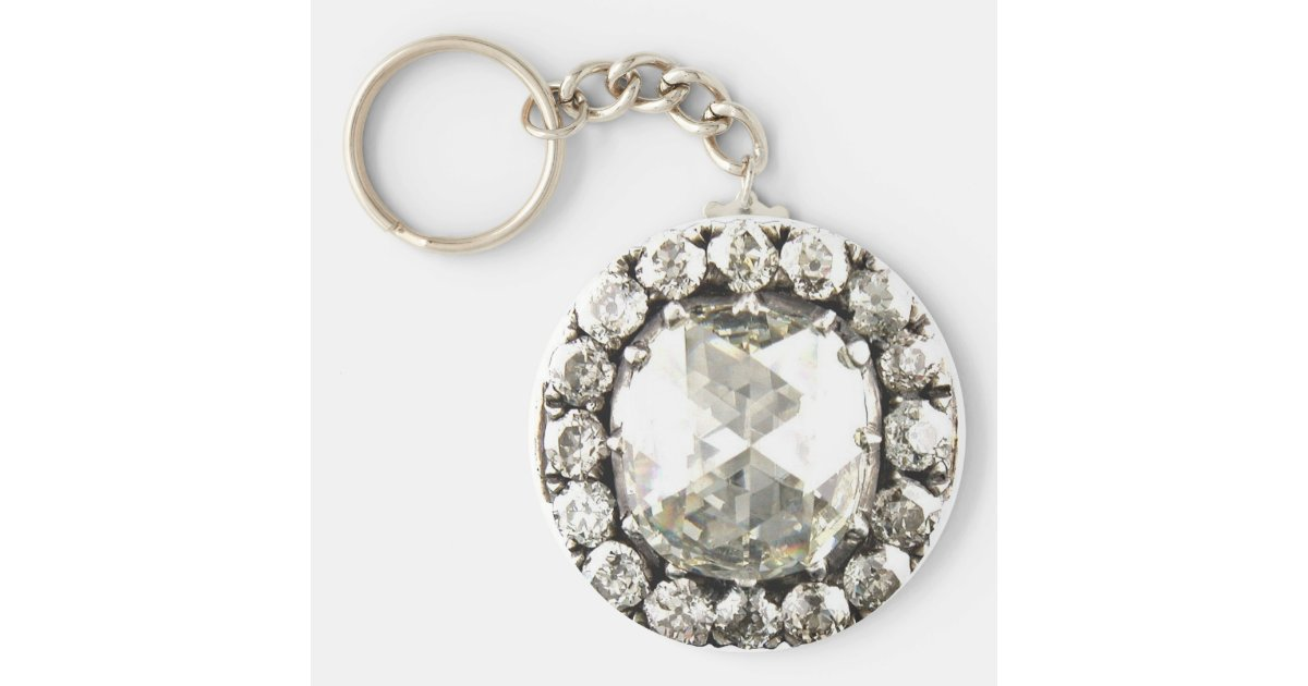 bling rhinestone vintage costume jewelry keychain