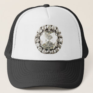 Bling Diamond Rhinestone Vintage Costume Jewelry Trucker Hat 39d8ebe8f4ec