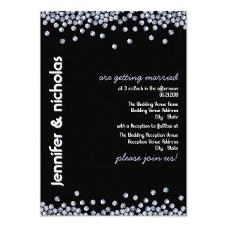 Bling wedding invitations announcements zazzle for Black and white bling wedding invitations