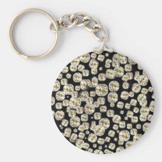 *BLING* Diamonds Basic Round Button Keychain