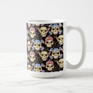 Bling Fashion Skulls Coffee Mug