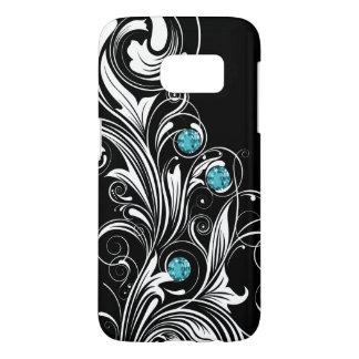 Bling Floral Flourish Samsung Galaxy S7 Case
