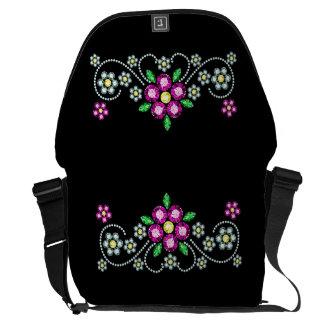 Bling Floral Rickshaw Bag Messenger Bags