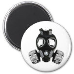 Bling Gas Mask 2 Inch Round Magnet