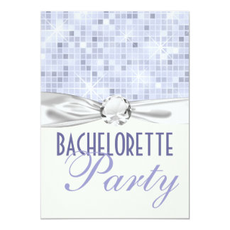 bling glam and glitz bachelorette party personalized invitations
