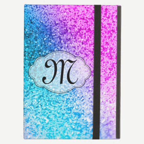 Bling Glitter Girly Monogram Initial IPAD Case